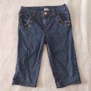 Girl's Bedazzled Capri Bermuda Shorts size 12